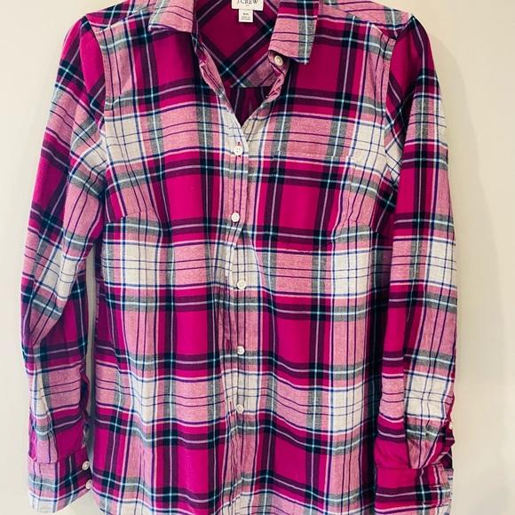 J Crew Plaid shirt size XS